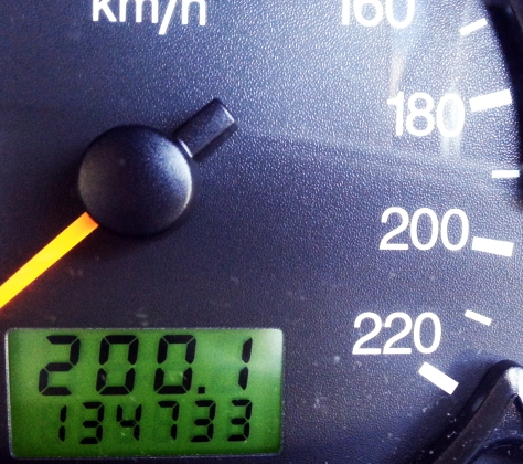 Day 200 Milage Clock at 200
